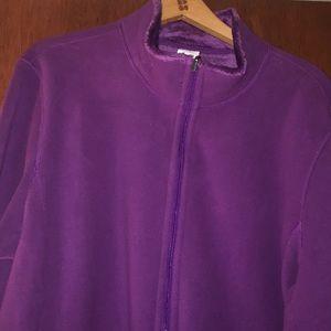 Reversible Purple Fuzzy Zip Up Jacket
